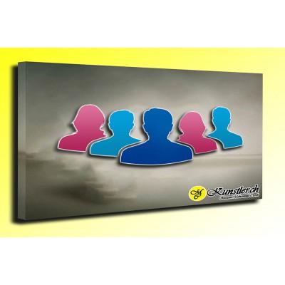 Ölbilder 5 Personen